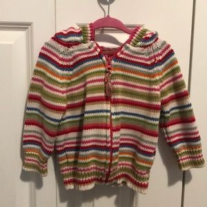 Knit zip up hoodie. Baby Gap great for layering